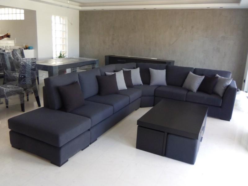 καναπές γωνια μαυρος